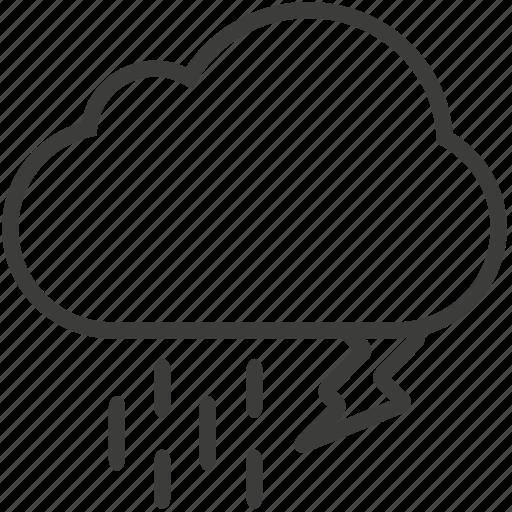 cloud, copia, lighting, rain, weather icon