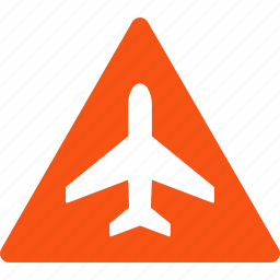 air plane, aircraft, airplane, airport, attention, danger, warning icon
