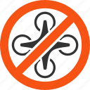 copter ban, forbidden, no drones, prohibition, restricted drone, restriction, stop hover icon