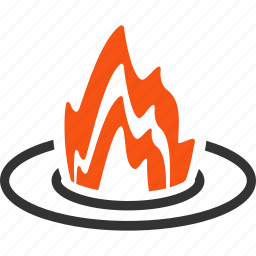 accident, burn, camp fire, campfire, flame, location, place icon