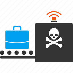 airport control, camera, check in, danger xray, luggage, suitcase, travel icon