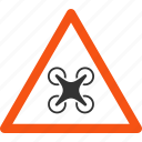 air copter, attention, caution, danger, drone zone, safety, warning icon