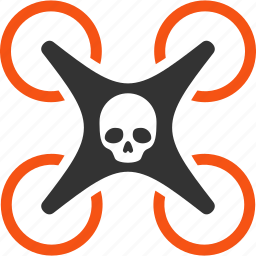 aircraft, danger nanocopter, flying copter, flying drone, mortal drone, quad copter, quadcopter icon