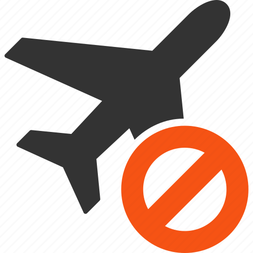 aircraft, airplane, closed flight, forbidden, plane, restricted, stop icon