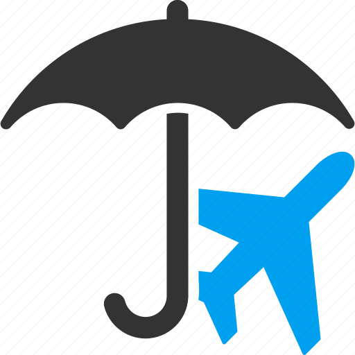 airline, aviation, insurance, protection, safety, umbrella, weather icon