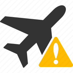aeroplan, aircraft, airplane, alert, error, jet plane, warning icon