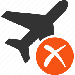 air force, aircraft, airplane, cancel, delete, jet plane, reject icon