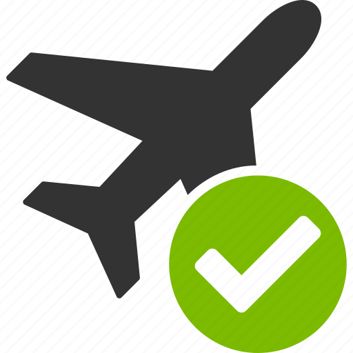 aircraft, airplane, apply, jet plane, ok, valid flight, yes icon