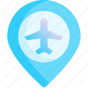 airport, area, location, pin, place, point, spot