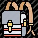 backpack, bag, rucksack, student, tourist icon
