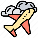 airplane, cloud, flight, sky, transport icon