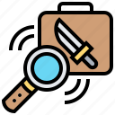 detector, inspection, metal, security, weapon icon