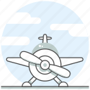 aerobatic, aircraft, airplane, airport, concept icon
