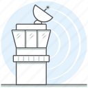 air traffic, aircraft, airport, building, concept, control tower, tower icon