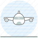 aircraft, airplane, airport, commercial airplane, concept icon