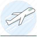 aircraft, airplane, airport, concept, takeoff icon