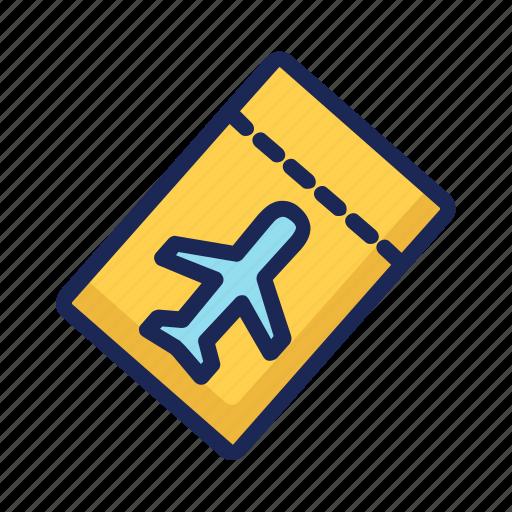 airplane, airport, flight, flying, luggage, passport, transportation icon