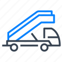 stair, truck, airport, vehicle