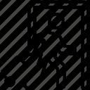 check in gate, checkpoint, entrance door, metal detector, walk through gate icon