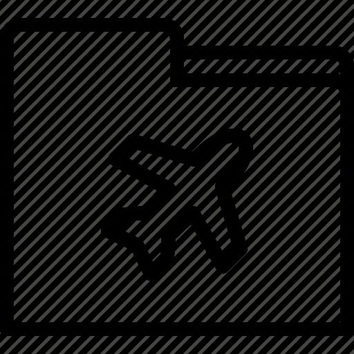 airport, data, file, folder icon
