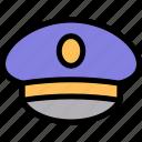 hat, pilot icon