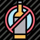 alcohol, no icon