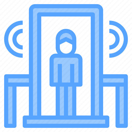 airport, body, full, scanner, tourism, travel, trip icon