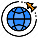 airport, flight, global, terminal, tourism, travel, trip icon
