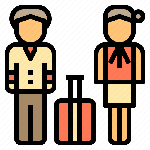 Airport, flight, personnel, terminal, tourism, travel, trip icon - Download on Iconfinder