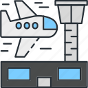 airplane, airport, plane, travel, traveling icon