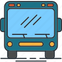 airport, bus, traveling icon