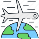 airplane, airport, traveling icon
