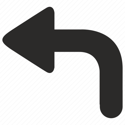 airport, left, navigation, turn, way icon