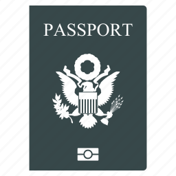 american id, identification, identity, pass, permit, united states passport, visa icon