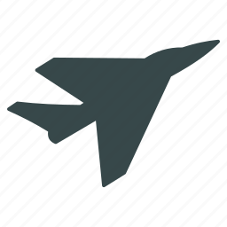 air force, airplane, fighter, intercepter, jet plane, military aircraft, navy icon