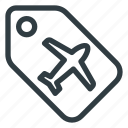 airport, label, terminal icon