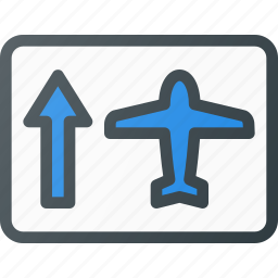 airport, plane, security, sign, terminal icon