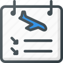 airport, arrivals, hanger, plane, sign, terminal icon