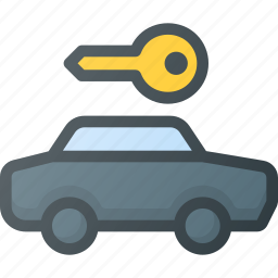 airport, car, rent, sign, terminal icon