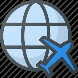 airport, flight, international, plane, promotion, terminal, world icon