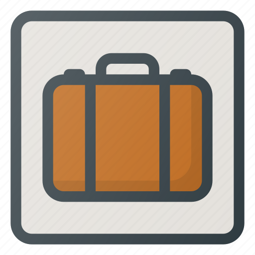 airport, left, luggage, security, sign, terminal icon