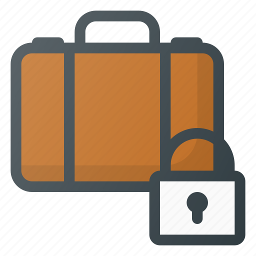 airport, lock, luggage, security, terminal icon
