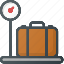airport, luggage, terminal, wieght icon