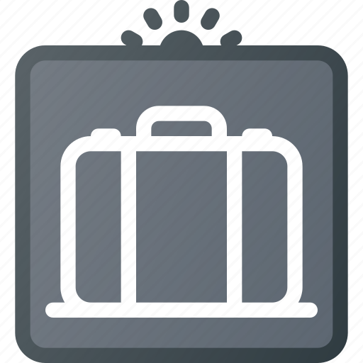 airport, luggage, protection, scan, security, sign, terminal icon