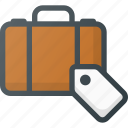 airport, checked, luggage, protection, security, tag, terminal icon