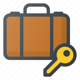 airport, luggage, service icon