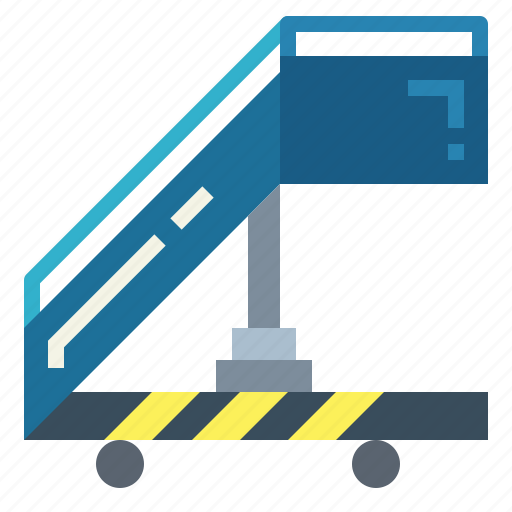 Airport, ladder, plan, stairs icon - Download on Iconfinder