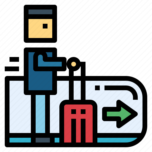 Airport, escalator, stair, transportation icon - Download on Iconfinder