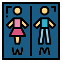 bathroom, restroom, signaling, toilet icon