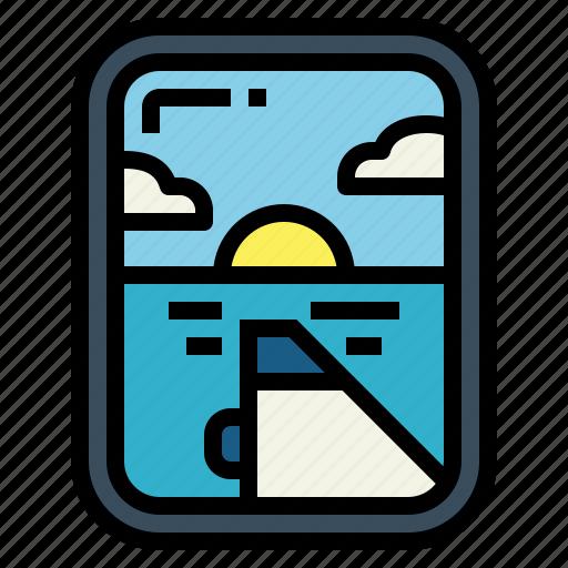 Flight, plane, travel, window icon - Download on Iconfinder